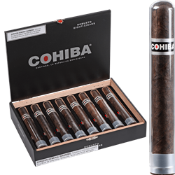 COHIBA BLACK ROBUSTO CRYSTAL 8 CT. BOX 5.50X50,cigars,cigar