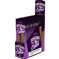 Zig Zag Cones Grape